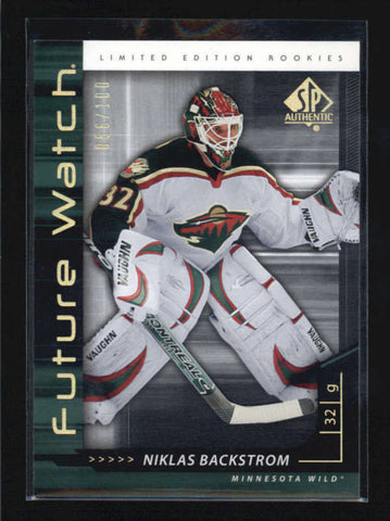 NIKLAS BACKSTROM 2006/07 06/07 SP AUTHENTIC FUTURE WATCH ROOKIE #056/100 AB6026