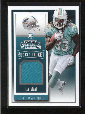 JAY AJAYI 2015 PANINI CONTENDERS ROOKIE TICKET USED WORN JERSEY RC AB9890