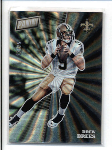 DREW BREES 2017 PANINI THE NATIONAL #FB14 THICK RAINBOW SPOKES #11/25 AC670