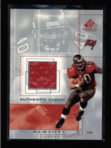 MIKE ALSTOTT 2001 UPPER DECK SP GAME USED WORN JERSEY AC2600