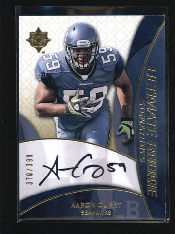 AARON CURRY 2009 ULTIMATE COLLECTION ROOKIE RC AUTOGRAPH AUTO #370/399 AB6127