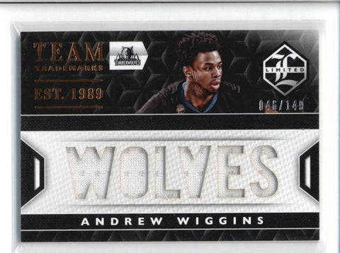 ANDREW WIGGINS 2015/16 LIMITED #18 TEAM TRADEMARKS 6-PC JERSEY #046/149 AB9434
