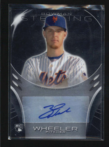 ZACK WHEELER 2013 BOWMAN STERLING ROOKIE AUTOGRAPH AUTO RC AB5842