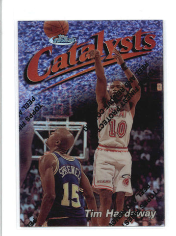 TIM HARDAWAY 1997/98 97/98 TOPPS FINEST #132 SILVER REFRACTOR #0066/1090 AB9355