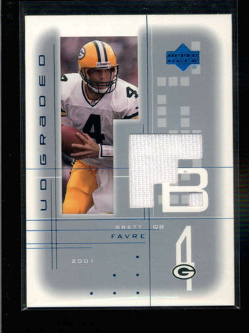 BRETT FAVRE 2001 UD GRADED GAME USED WORN JERSEY (GREEN BAY PACKERS) AC1211