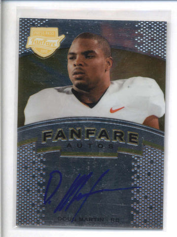 DOUG MARTIN 2012 PRESS PASS FANFARE AUTOGRAPH AUTO ROOKIE RC AB8990