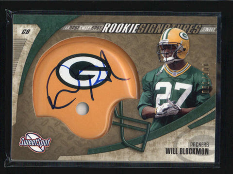 WILL BLACKMON 2006 SWEET SPOT GOLD ROOKIE RC AUTOGRAPH AUTO #061/100 AB6456