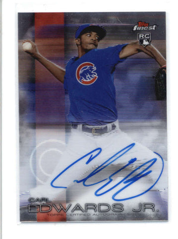 CARL EDWARDS JR. 2016 TOPPS FINEST ON CARD ROOKIE AUTOGRAPH AUTO RC AB9560