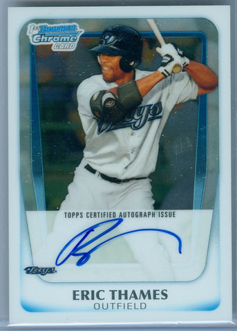 ERIC THAMES 2011 BOWMAN CHROME RC ROOKIE AUTO AUTOGRAPH SP