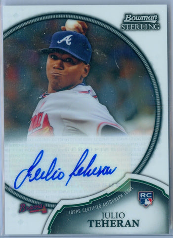 JULIO TEHERAN 2011 BOWMAN STERLING RC ROOKIE AUTO AUTOGRAPH SP