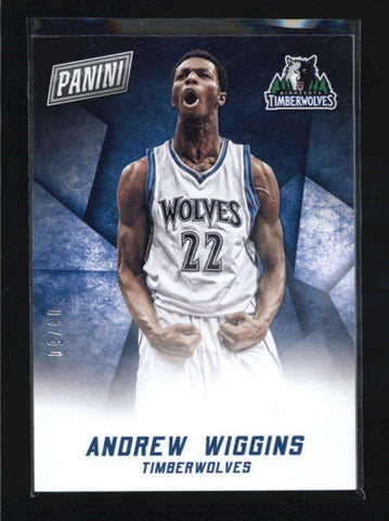 ANDREW WIGGINS 2015 PANINI BLACK FRIDAY #14 THICK STOCK PARALLEL #05/60 AB5986