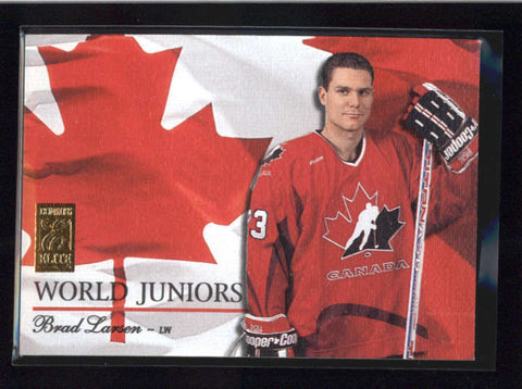 BRAD LARSEN 1995/96 95/96 DONRUSS ELITE #17 WORLD JUNIORS #0476/1000 AB9112