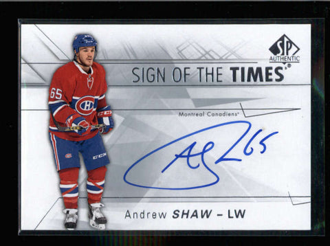 ANDREW SHAW 2016/17 16/17 SP SIGN OF THE TIMES AUTOGRAPH AUTO AC1298