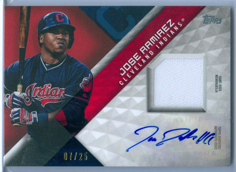 JOSE RAMIREZ 2018 TOPPS GAME USED JERSEY AUTO AUTOGRAPH SP/25