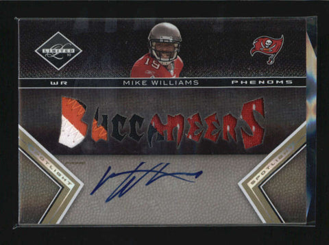 MIKE WILLIAMS 2010 LIMITED GOLD ROOKIE 4-CLR PATCH AUTOGRAPH AUTO #03/10 AB6255