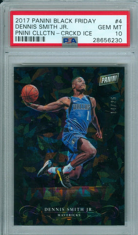 DENNIS SMITH JR 2017 PANINI BLACK FRIDAY CRACKED ICE SP/25 RC ROOKIE PSA 10