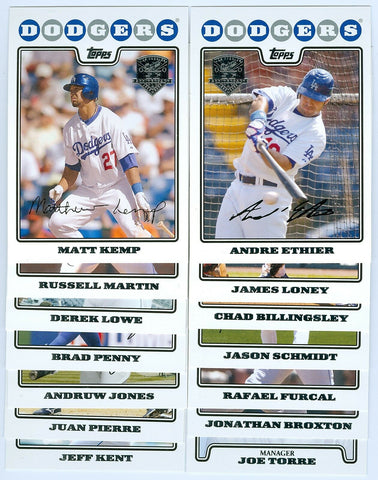 2008 TOPPS LOS ANGELES DODGERS TEAM SET / 5OTH ANNIVERSARY STAMPED SP