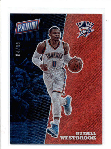 RUSSELL WESTBROOK 2017 PANINI THE NATIONAL #BK17 RAPTURE PARALLEL #64/99 AC989