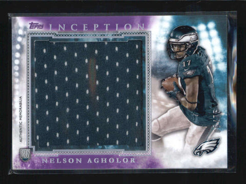 NELSON AGHOLOR 2015 TOPPS INCEPTION PURPLE JUMBO ROOKIE RC JERSEY #06/75 AB6279