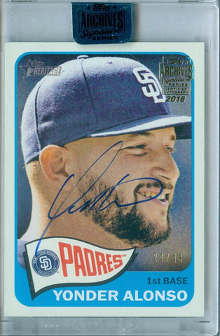 YONDER ALONSO 2018 TOPPS ARCHIVES SIGNATURE 2016 AUTO AUTOGRAPH SP/48