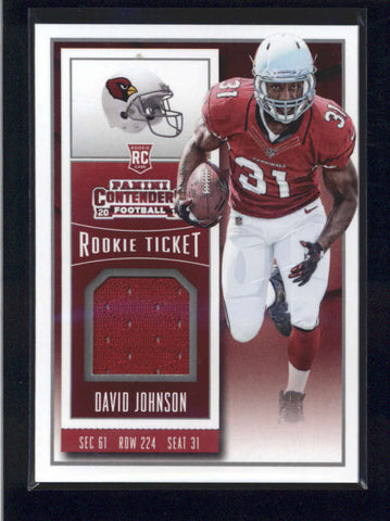 DAVID JOHNSON 2015 PANINI CONTENDERS ROOKIE TICKET USED WORN JERSEY RC AB9891