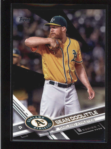 SEAN DOOLITTLE 2017 TOPPS SERIES 1 #157 BLACK PARALLEL #38/66 AB8862
