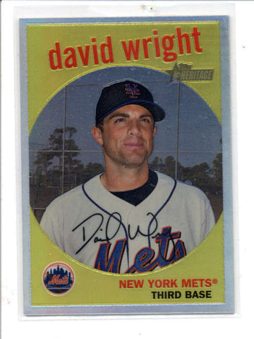 DAVID WRIGHT 2008 TOPPS HERITAGE #C40 CHROME REFRACTOR PARALLEL #293/559 AC858