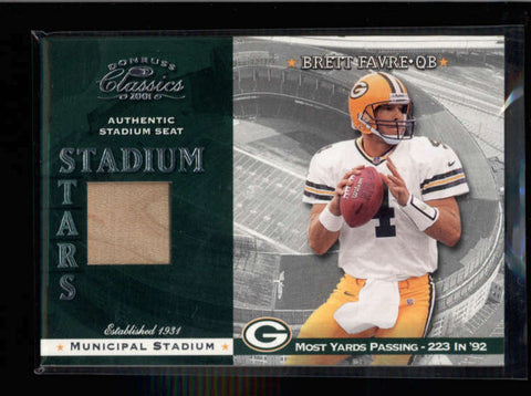 BRETT FAVRE 2001 DONRUSS CLASSICS STADIUM STARS AUTHENTIC SEAT (PACKERS) AC1257