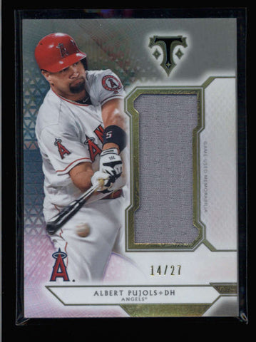 ALBERT PUJOLS 2018 TRIPLE THREADS JUMBO GAME USED JERSEY #14/27 AC2508