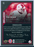 TEVIN COLEMAN 2015 UPPER DECK INSCRIPTIONS GOLD RC ROOKIE AUTO AUTOGRAPH SP/10