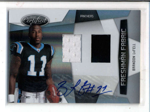 BRANDON LaFELL 2010 CERTIFIED DUAL ROOKIE JERSEY AUTOGRAPH AUTO #122/599 AC1227