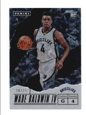 WADE BALDWIN IV 2017 PANINI FATHERS DAY #49 CRACKED ICE ROOKIE RC #20/25 AB9423