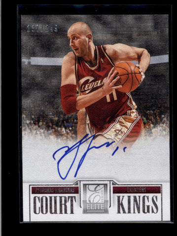 ZYDRUNAS ILGAUSKAS 2012/13 12/13 ELITE SERIES COURT KINGS AUTO #237/249 AB8444