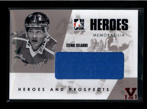 TEEMU SELANNIE 2008/09 ITG HEROES AND PROSPECT JERSEY SILVER VERSION AC2280