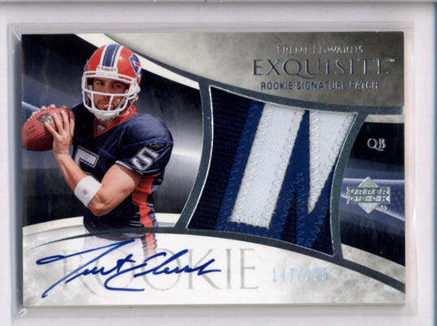 TRENT EDWARDS 2007 UD EXQUISITE #107 RPA ROOKIE 3-COLOR PATCH AUTO #/225 AC2264