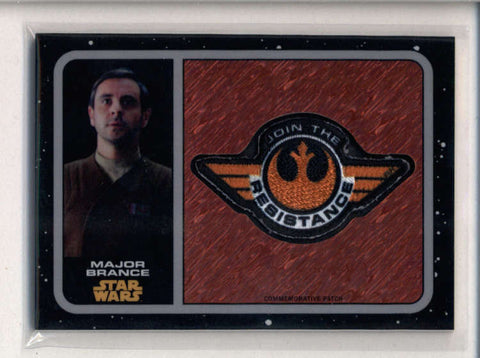 MAJOR BRANCE TOPPS STAR WARS THE FORCE AWAKENS REFRACTOR PATCH #083/100 AC2643