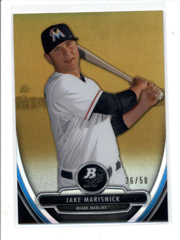 JAKE MARISNICK 2011 BOWMAN STERLING GOLD REFRACTOR ROOKIE RC #26/50 AC840