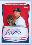 SONNY GRAY 2010 TOPPS USA RC ROOKIE AUTO AUTOGRAPH SP