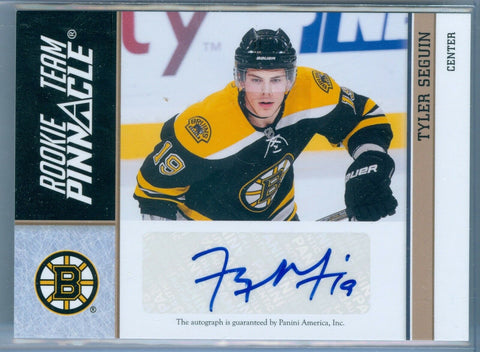 TYLER SEGUIN RC JERSEY # /TAYLOR HALL 2010-11 PINNACLE TEAM RC ROOKIE AUTO SP/50