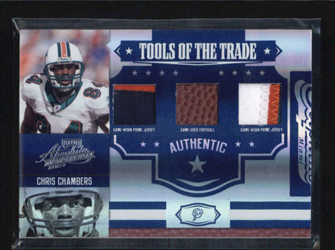 CHRIS CHAMBERS 2007 ABSOLUTE TOOLS OF THE TRADE PATCH BALL PATCH #12/25 AB6295