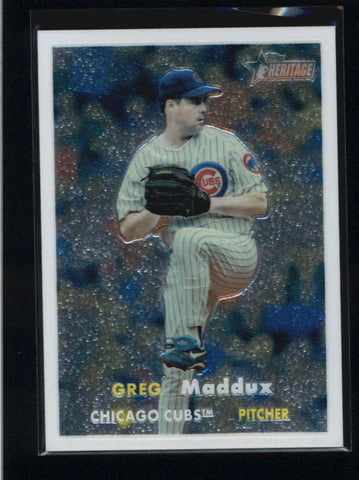 GREG MADDUX 2006 TOPPS HERITAGE #110 CHROME PARALLEL #0014/1957 AB9530