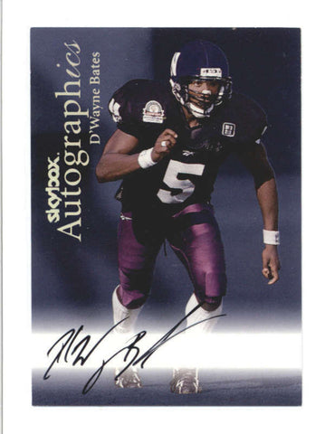 D WAYNE BATES 1999 SKYBOX AUTOGRAPHICS ON CARD ROOKIE AUTOGRAPH AUTO RC AB9884