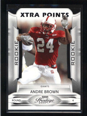 ANDRE BROWN 2009 PLAYOFF PRESTIGE XTRA POINTS BLACK ROOKIE RC #02/10 AB9046