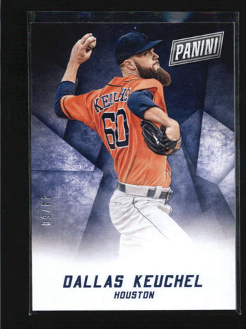 DALLAS KEUCHEL 2015 PANINI BLACK FRIDAY THICK STOCK PARALLEL #44/50 AB5900