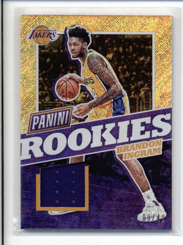 BRANDON INGRAM 2017 PANINI THE NATIONAL RAPTURE ROOKIE JERSEY #09/99 AC715