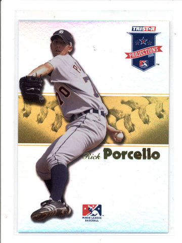RICK PORCELLO 2008 TRISTAR PROJECTIONS YELLOW FOIL ROOKIE #04/25 AC878
