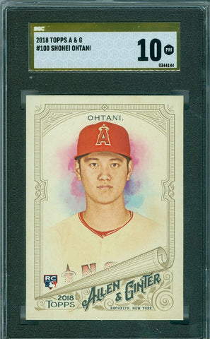 SHOHEI OHTANI 2018 TOPPS ALLEN & GINTER RC ROOKIE GOLD LABEL PRISTINE SGC 10