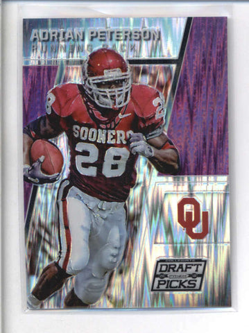 ADRIAN PETERSON 2016 PANINI COLLEGIATE DRAFT PICKS PURPLE PRIZM #49/99 AB9023