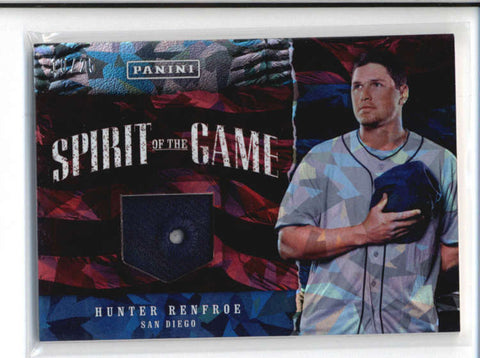 HUNTER REFROE 2017 FATHERS DAY SPIRIT OF THE GAME CRACKED ICE HAT #10/25 AB9591