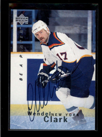 WENDEL CLARK 1995/96 95/96 UD BE A PLAYER BAP ON CARD AUTOGRAPH AUTO AB7690